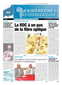 Les Dépêches de Brazzaville : Édition kinshasa du 19 avril 2013