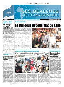 Les Dépêches de Brazzaville : Édition kinshasa du 23 avril 2013