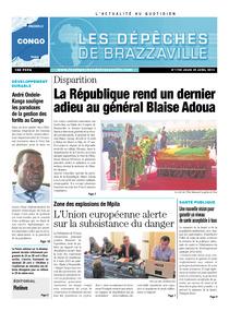 Les Dépêches de Brazzaville : Édition brazzaville du 25 avril 2013