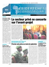 Les Dépêches de Brazzaville : Édition kinshasa du 25 avril 2013