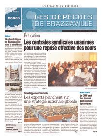 Les Dépêches de Brazzaville : Édition brazzaville du 29 avril 2013