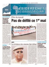 Les Dépêches de Brazzaville : Édition kinshasa du 29 avril 2013
