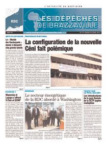 Les Dépêches de Brazzaville : Édition kinshasa du 30 avril 2013