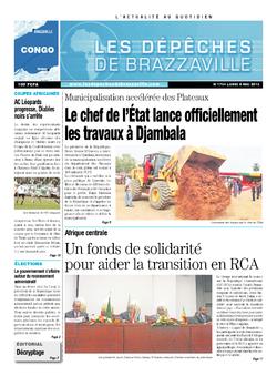Les Dépêches de Brazzaville : Édition brazzaville du 06 mai 2013
