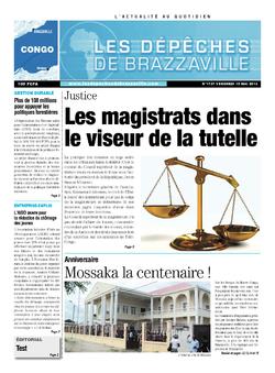 Les Dépêches de Brazzaville : Édition brazzaville du 10 mai 2013
