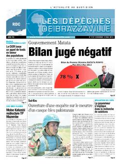 Les Dépêches de Brazzaville : Édition kinshasa du 10 mai 2013