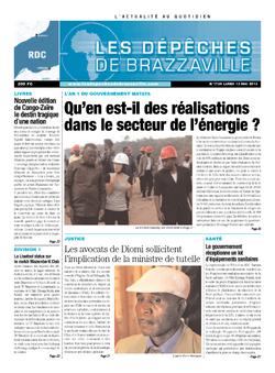 Les Dépêches de Brazzaville : Édition kinshasa du 13 mai 2013