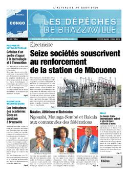 Les Dépêches de Brazzaville : Édition brazzaville du 14 mai 2013
