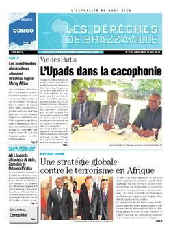 Les Dépêches de Brazzaville : Édition brazzaville du 15 mai 2013