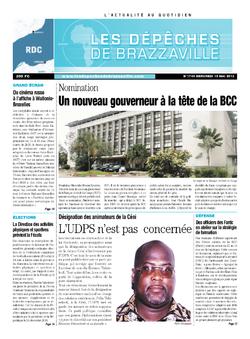 Les Dépêches de Brazzaville : Édition kinshasa du 15 mai 2013