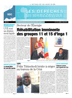 Les Dépêches de Brazzaville : Édition kinshasa du 27 mai 2013