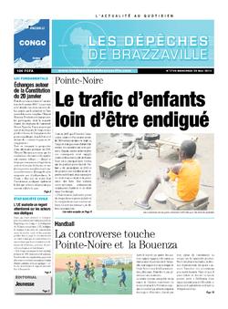 Les Dépêches de Brazzaville : Édition brazzaville du 29 mai 2013