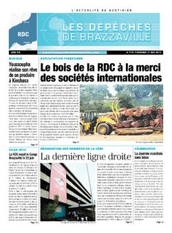 Les Dépêches de Brazzaville : Édition kinshasa du 31 mai 2013