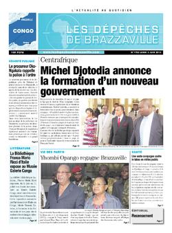 Les Dépêches de Brazzaville : Édition brazzaville du 03 juin 2013