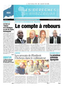 Les Dépêches de Brazzaville : Édition kinshasa du 03 juin 2013