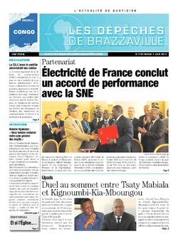 Les Dépêches de Brazzaville : Édition brazzaville du 04 juin 2013