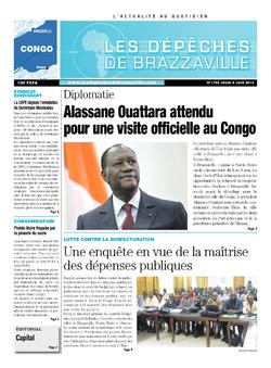 Les Dépêches de Brazzaville : Édition brazzaville du 06 juin 2013