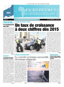 Les Dépêches de Brazzaville : Édition kinshasa du 07 juin 2013