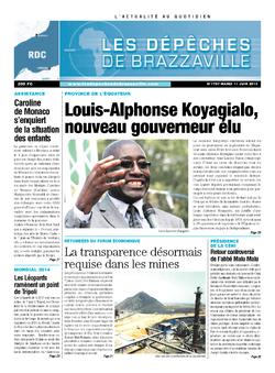 Les Dépêches de Brazzaville : Édition kinshasa du 11 juin 2013