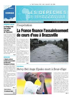 Les Dépêches de Brazzaville : Édition brazzaville du 12 juin 2013