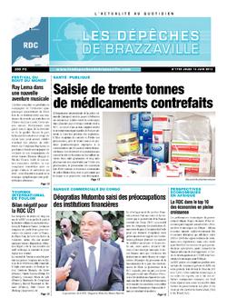 Les Dépêches de Brazzaville : Édition kinshasa du 13 juin 2013