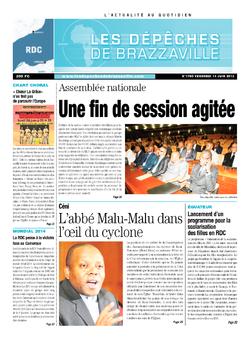 Les Dépêches de Brazzaville : Édition kinshasa du 14 juin 2013