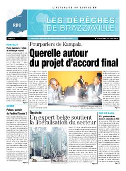 Les Dépêches de Brazzaville : Édition kinshasa du 17 juin 2013