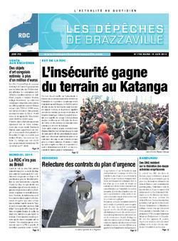 Les Dépêches de Brazzaville : Édition kinshasa du 18 juin 2013