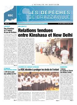 Les Dépêches de Brazzaville : Édition kinshasa du 20 juin 2013