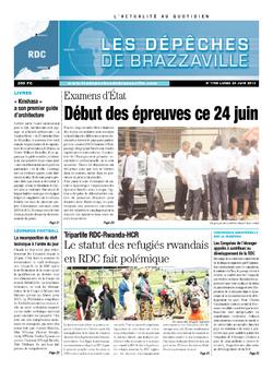 Les Dépêches de Brazzaville : Édition kinshasa du 24 juin 2013