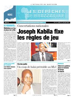 Les Dépêches de Brazzaville : Édition kinshasa du 01 juillet 2013