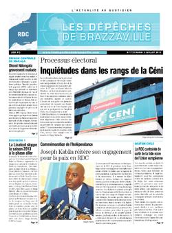 Les Dépêches de Brazzaville : Édition kinshasa du 02 juillet 2013
