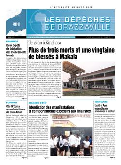 Les Dépêches de Brazzaville : Édition kinshasa du 03 juillet 2013