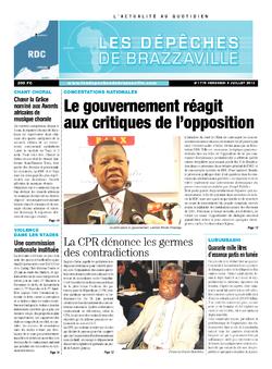 Les Dépêches de Brazzaville : Édition kinshasa du 05 juillet 2013
