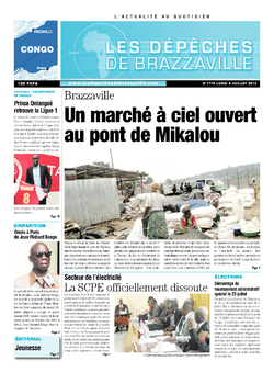 Les Dépêches de Brazzaville : Édition brazzaville du 08 juillet 2013