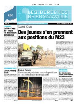 Les Dépêches de Brazzaville : Édition kinshasa du 08 juillet 2013