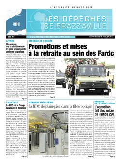 Les Dépêches de Brazzaville : Édition kinshasa du 09 juillet 2013