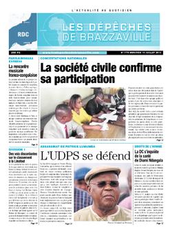 Les Dépêches de Brazzaville : Édition kinshasa du 10 juillet 2013
