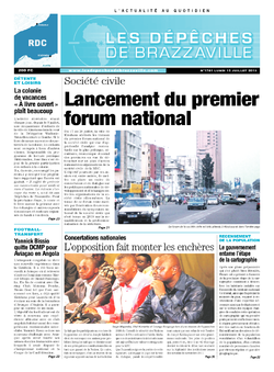 Les Dépêches de Brazzaville : Édition kinshasa du 15 juillet 2013