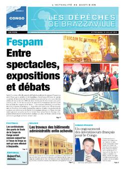 Les Dépêches de Brazzaville : Édition brazzaville du 16 juillet 2013