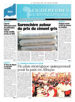 Les Dépêches de Brazzaville : Édition kinshasa du 16 juillet 2013