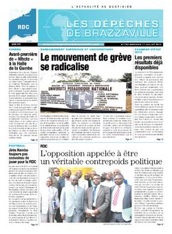 Les Dépêches de Brazzaville : Édition kinshasa du 17 juillet 2013