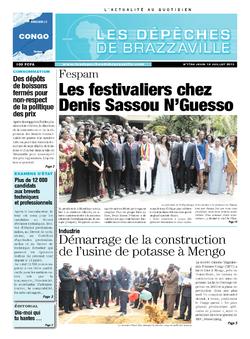 Les Dépêches de Brazzaville : Édition brazzaville du 18 juillet 2013