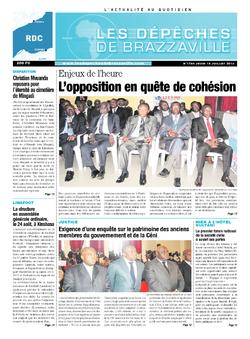 Les Dépêches de Brazzaville : Édition kinshasa du 18 juillet 2013