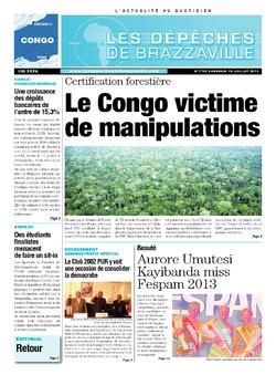 Les Dépêches de Brazzaville : Édition brazzaville du 19 juillet 2013