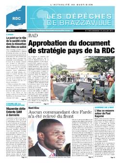 Les Dépêches de Brazzaville : Édition kinshasa du 19 juillet 2013