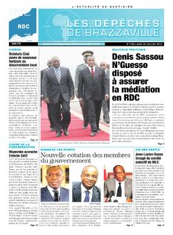 Les Dépêches de Brazzaville : Édition kinshasa du 22 juillet 2013