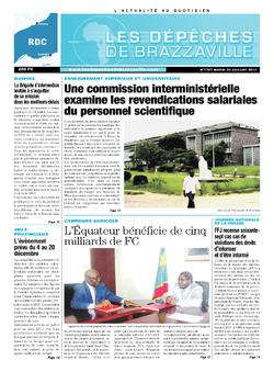 Les Dépêches de Brazzaville : Édition kinshasa du 23 juillet 2013