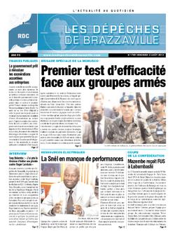 Les Dépêches de Brazzaville : Édition kinshasa du 02 août 2013