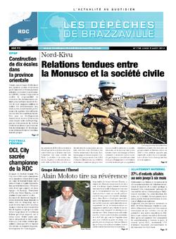 Les Dépêches de Brazzaville : Édition kinshasa du 05 août 2013